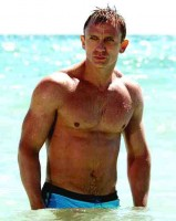 Daniel Craig at the Beach